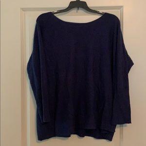 Garnet Hill blue sweater